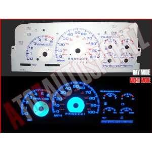 96 97 98 Chevy CK 1500 Silverado BLUE INDIGLO GAUGES