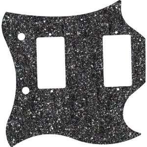 Black Sparkle Glitter Gibson SG Standard Pickguard