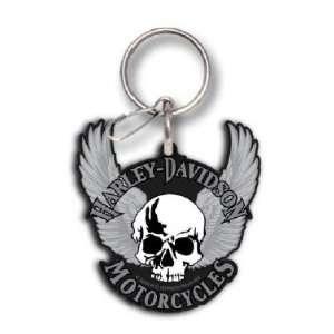 Universal Key Chain   Harley Davidson w/ Skull and Wings Automotive