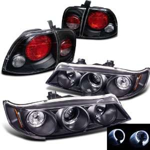 Sonar Smoked Halo Projector Head Lights+ Tail Lights Automotive