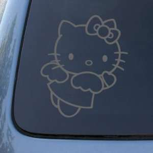 HELLO KITTY ANGEL   Vinyl Decal Sticker #A1401  Vinyl Color Silver
