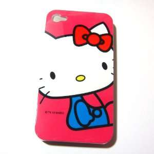 Hello Kitty pink Snap On Hard Case Cover for iphone 4 4G Cell