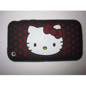 Phone 3G 3GS light weight Hello Kitty Silicone Case / Skin Black Cell