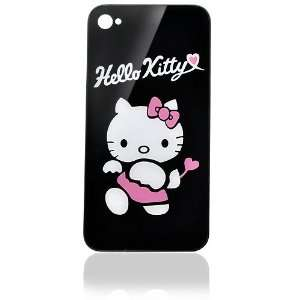 iPhone 4 Back Glass   Hello Kitty   Black Cell Phones & Accessories