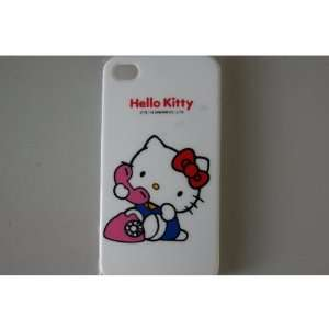 Hello Kitty iPhone 4G Hard Case White Case Protector For