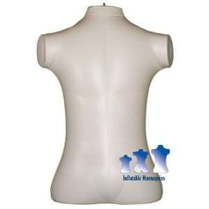 Inflatable Mannequin, Male Torso, Extra Large Ivory Arts