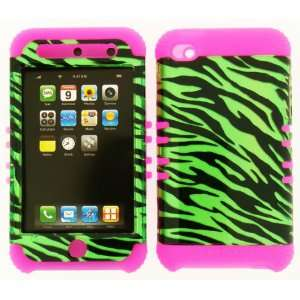 3D Green Zebra Hard Cover Case For Apple iPod Touch 4 4th Generation