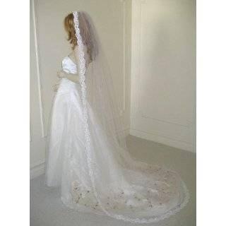 Cathedral 1 Tier Venice Mantilla Lace Wedding Bridal Veil