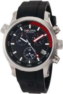 Golana Swiss Mens AQ300 3 Aqua Pro 300 Stainless Steel Watch Watches