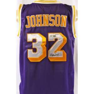 Magic Johnson Autographed Jersey   GAI   Autographed NBA Jerseys