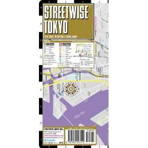 Map   Laminated City Center Street Map of Tokyo, Japan [Map
