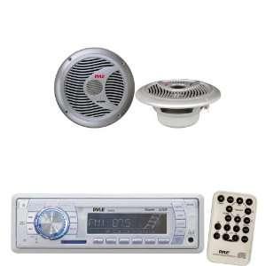 Pyle Marine Radio Receiver and Speaker Package   PLMR18 AM