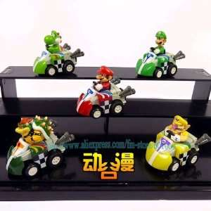super mario bros kart pull back car figure #2 new whole Toys & Games