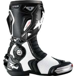 Spidi XP5 S WRS Mens On Road Racing Motorcycle Boots   White/Black