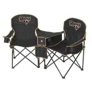 Saint Louis Rams NFL Deluxe Folding Conversation Arm Chair by