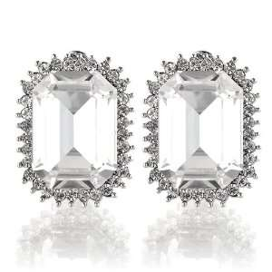 Glass and Silver Swarovski Crystals (Non Piercing Earrings) (2875