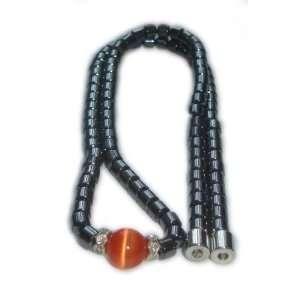Orange Cat Eye Magnetic Necklace
