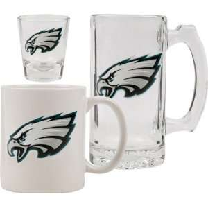 Philadelphia Eagles Glassware Set 3D Logo Tankard, Coffee