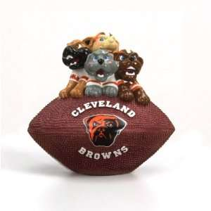 of 4 NFL Cleveland Browns Football Paperweights