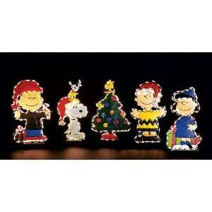 5 pc. Peanuts Set Charlie Brown and Friends Yard Art