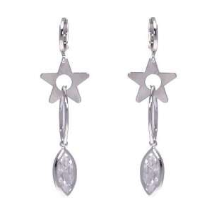Xing Xing Silver Plated Crystal Pierced Earrings Jewelry