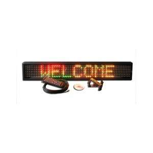 Econo Programmable Multi Color LED Window Sign Display 6 x