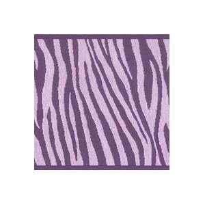Wallpaper Borders on Wallpaper Border Designer Animal Print Purple Zebra  Kitchen   Dining