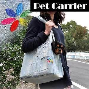 Fashion Denim Blue Shoulder Bag Sling Pet Carrier Pet