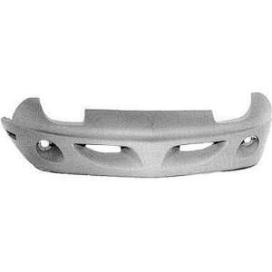 PT04019BA Pontiac Sunfire Primed Black Replacement Front Bumper Cover