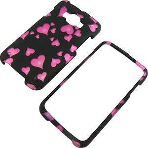 Hearts Black Protector Case for Samsung Rugby Smart i847 Electronics