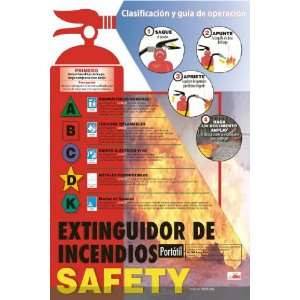 POSTERS FIRE EXTINGUISHER SAFETY POSTER SPANISH: Home Improvement