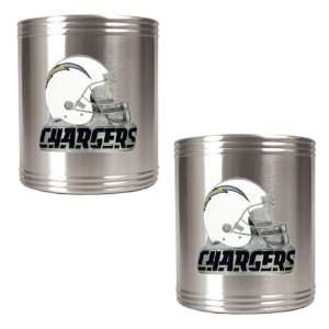 San Diego Chargers NFL 2pc Stainless Steel Can Holder Set
