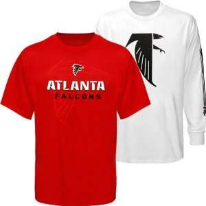 NFL Reebok Atlanta Falcons Red White Package T Shirt Combo Set