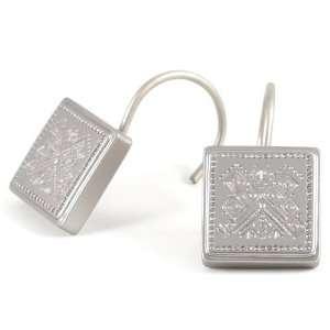 Southwest Silver Mexican Pattern Shower Hook 12 Piece Set: