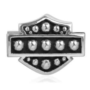 Harley Davidson® Sterling Silver Bar & Shield Ride Bead