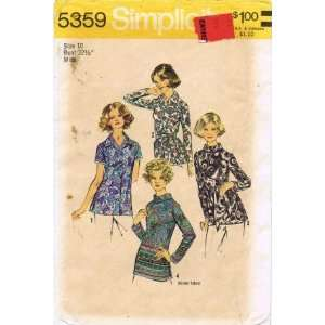 Simplicity 5359 Sewing Pattern Misses Set of Blouses Size
