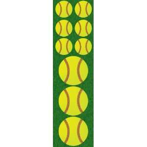 Real Sports Chipboard Sticker, Softball Arts, Crafts & Sewing