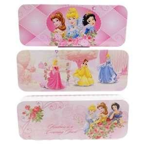 Disney Princess tin pencil case bag box 00942(set of 3