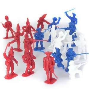 BMC Revolutionary War Plastic Army Men: 34 Piece Set of