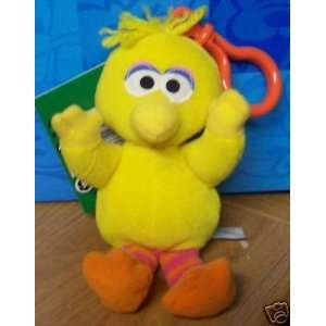 Sesame Street Big Bird 6 Plush With Clip (1997) Toys & Games