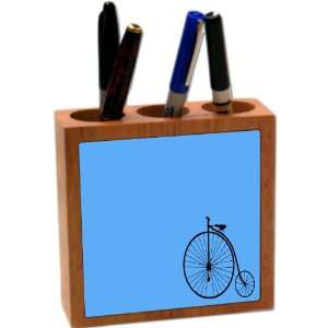 Rikki KnightTM Unicycle on Blue Background 5 Inch Tile
