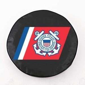 United States Coast Guard Black Tire Cover, Large Sports