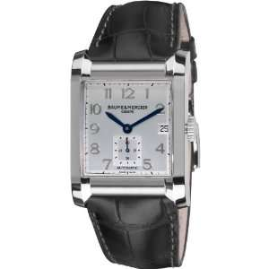 Silver Dial Black Strap Automatic Watch Baume & Mercier Watches