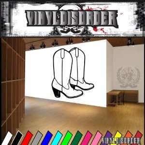 Western Cowgirl Boots NS003 Vinyl Decal Wall Art Sticker