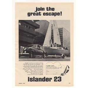 1969 Islander 23 Sailing Yacht Pulled by Rolls Royce Print