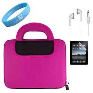 Apple iPad Two Tone Black Pink Color Case + Clear Screen