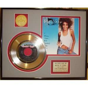 WHITNEY HOUSTON GOLD RECORD LIMITED EDITION DISPLAY