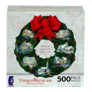 Thomas Kinkade Christmas Cottage Collection Wreath Shaped