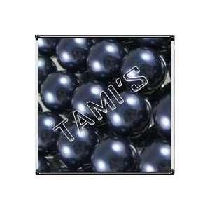 50 SWAROVSKI Crystal Faux PEARLS NIGHT BLUE 8mm