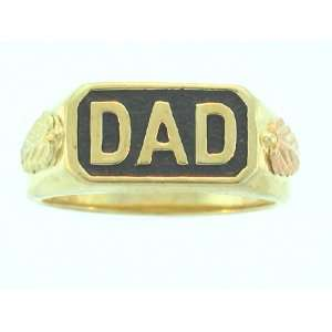 Mens Yellow gold Black Hills Gold Black Antiqued Dads